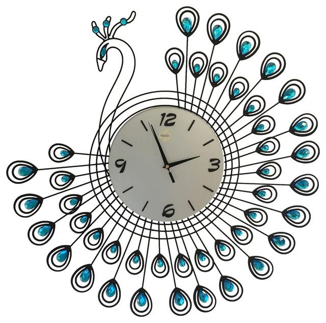 Home Goods Clocks: Peacock Wall Clock Home Goods Home Decoration Modern Clock