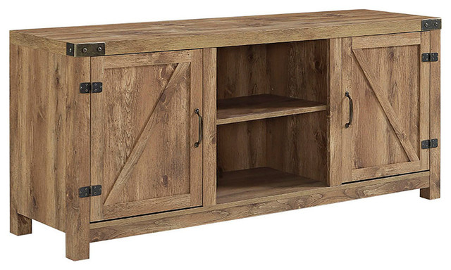 Abigail Media Console, Barn Wood.