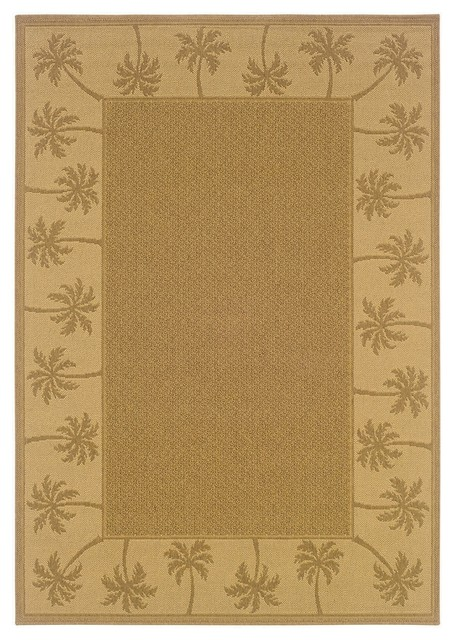 Oriental Weavers Sphinx Lanai 606m7 Outdoor Rug Tan Beige 5 3