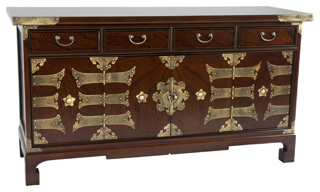 Korean Antique Style Coffee Table Low Chest
