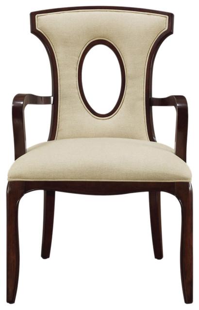 Sterling Blakemore Arm Chair, Dark Mahogany/Ecru - Modern ...
