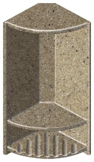 "Decor 6""x14-1/2"" Double Corner Shelf, Matrix Sand"