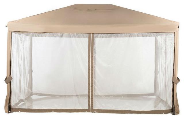 10&x27;x12&x27; Fully Enclosed Solid Steel Garden Gazebo Patio Canopy.