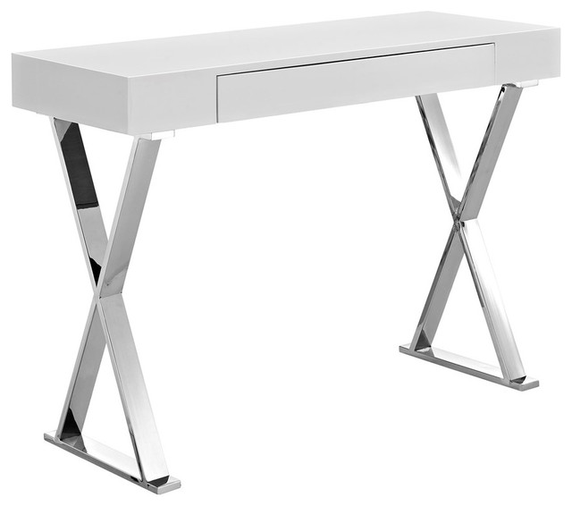 Modway Sector Console Table, White Eei-2048-Whi-Set.