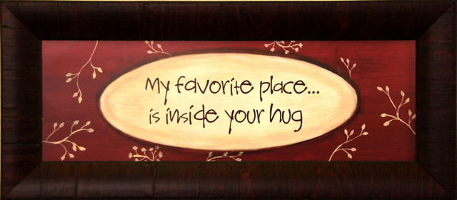 Framed Wall Decor My Favorite Place Is Inside Your Hug ...