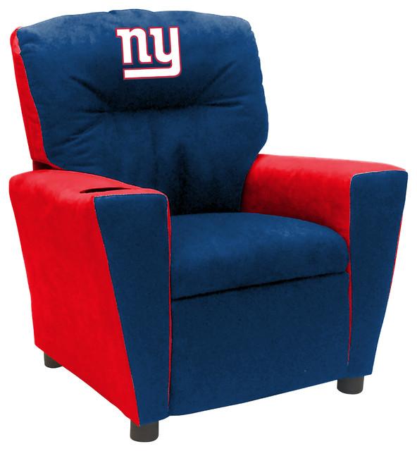 New York Giants Fan Favorite Kids Recliner Traditional