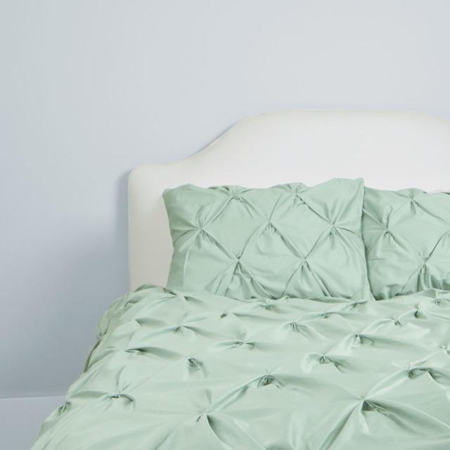 400 thread count pintuck duvet cover, the valencia seafoam green