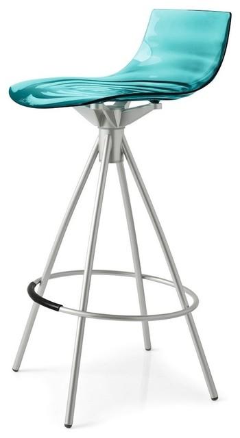 Prime Leau Stool Chrome Frame Transparent Smoke Gray 26 Ncnpc Chair Design For Home Ncnpcorg