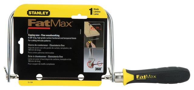 Stanley Hand Tools Fatmax Coping Saw, 4.75""