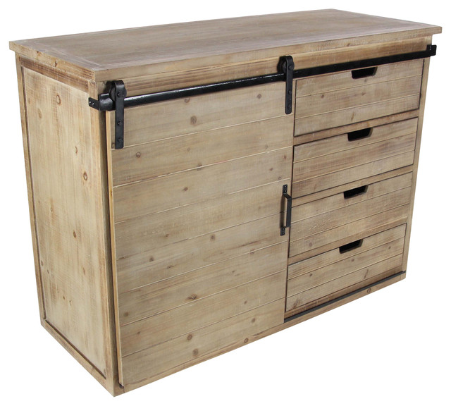 "GwG Outlet Wooden Metal Cabinet 44""x32"" - Industrial - Storage Cabinets - by GwG Outlet"