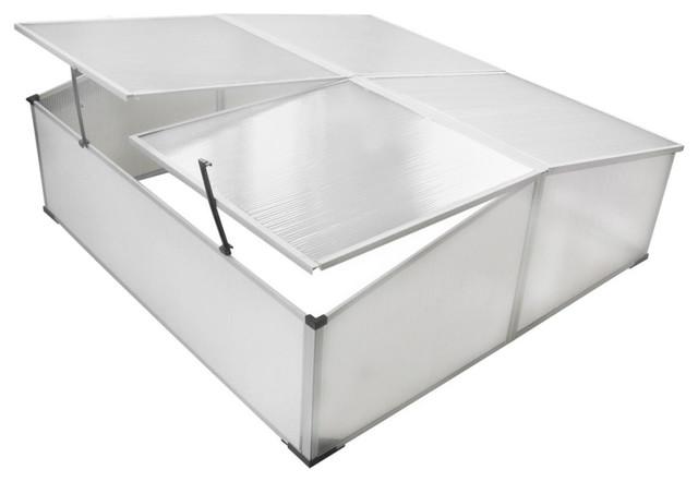 vidaXL Cold Frame 4-Lid, 108x41x110 cm