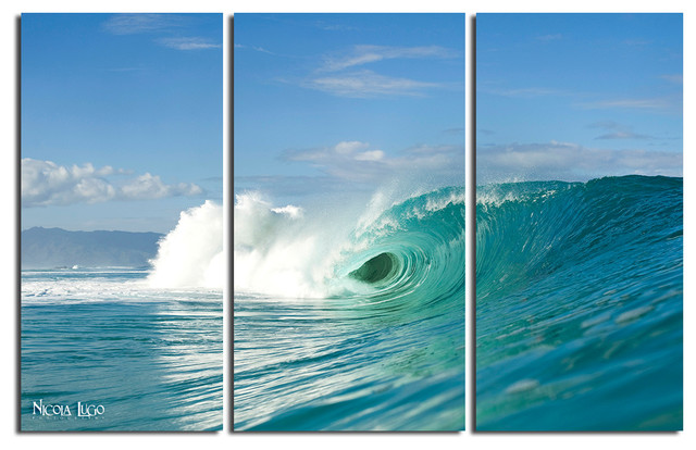 Ready2hangart Nicola Lugo Wave Break 20x48 Inch Canvas