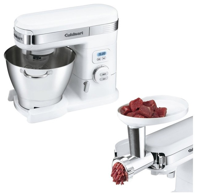 Cuisinart Stand Mixer And Meat Grinder Attachment Bundle.