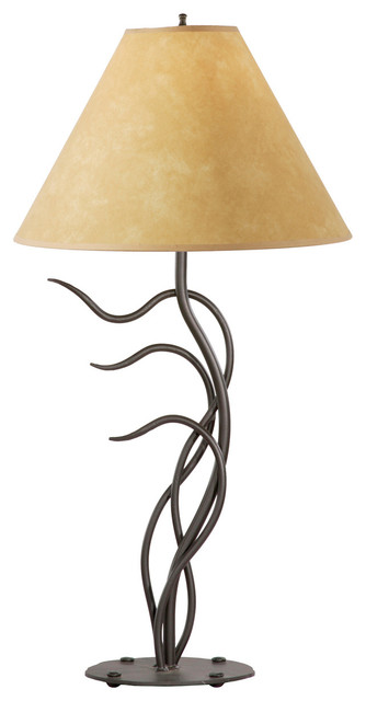 stone county breeze natural black table lamp - Rustic Table Lamps