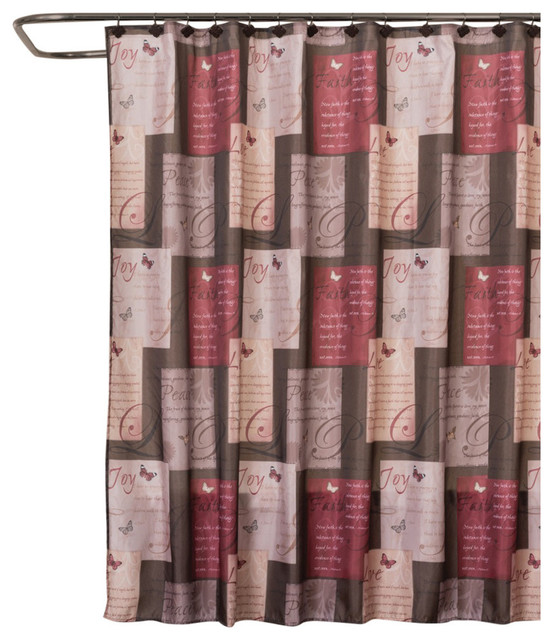 Red And Gold Shower Curtain. Saturday Knight Grace Shower Curtain shower curtains  Curtains by