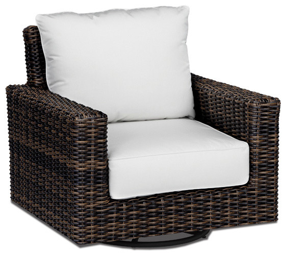Outdoor Wicker Motion Club Chair | Hampton Java Collection Contemporary  Patio Furniture And