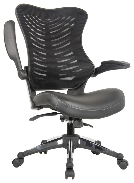 Ergonomic office chairs Pink Executive Ergonomic Office Chair Back Mesh Bonded Leather Seat Flip Up Arms Contemporary Office Chairs By Offices Warehouse People Executive Ergonomic Office Chair Back Mesh Bonded Leather Seat Flip
