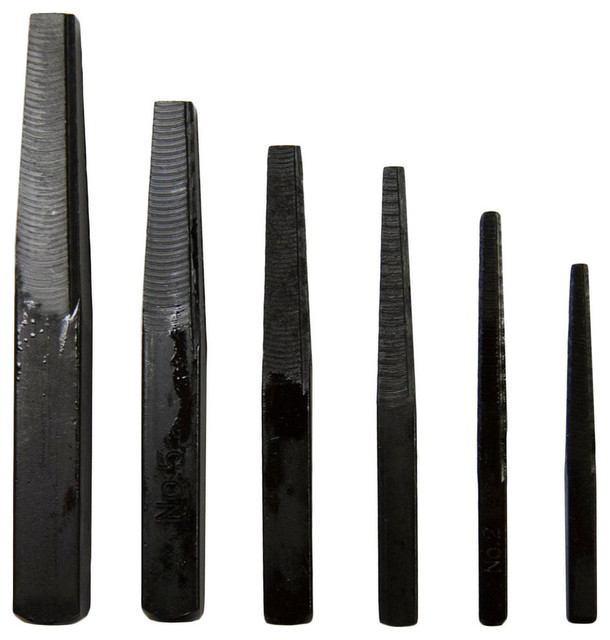 Assorted Square Flute Screw Extractors, Set Of 6