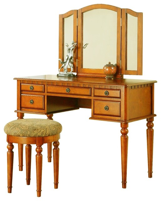 Poundex Furniture F407 Bobkona St Croix Vanity Set With