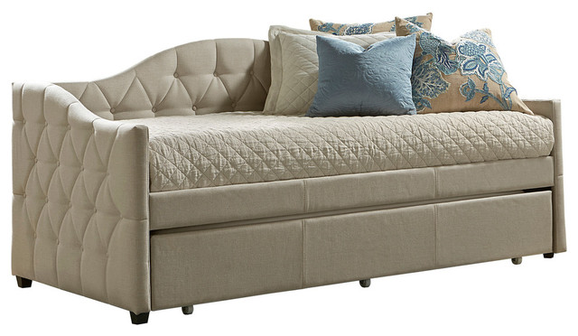 d5f36b77bd0a Hillsdale Jamie Daybed With Trundle, Beige - Transitional - Daybeds ...