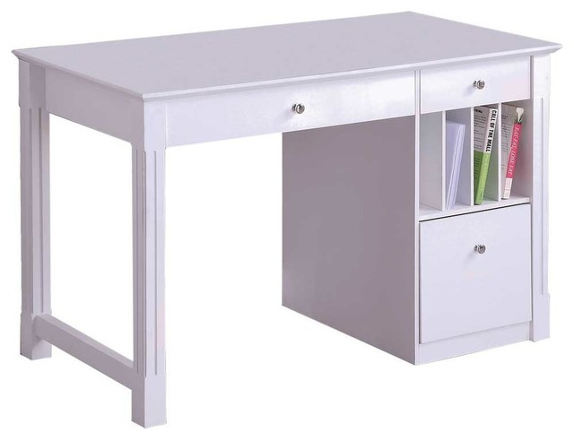 S Home Office Desk With File Storage By Walker Edison Contemporary Desks And Hutches Organize It