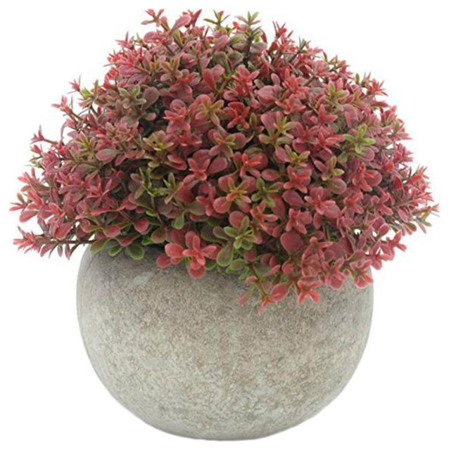 Mini Artificial Plants With Pot Artificial Topiaries For Home Decor