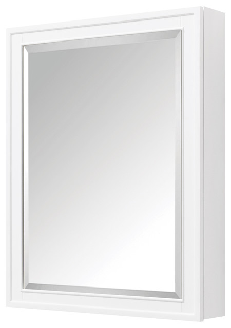 "Avanity Madison 24"" Mirror Cabinet, White Finish."