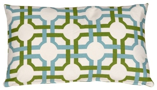 Pillow Decor - Waverly Groovy Grille Confetti 12 X 20 Throw Pillow.