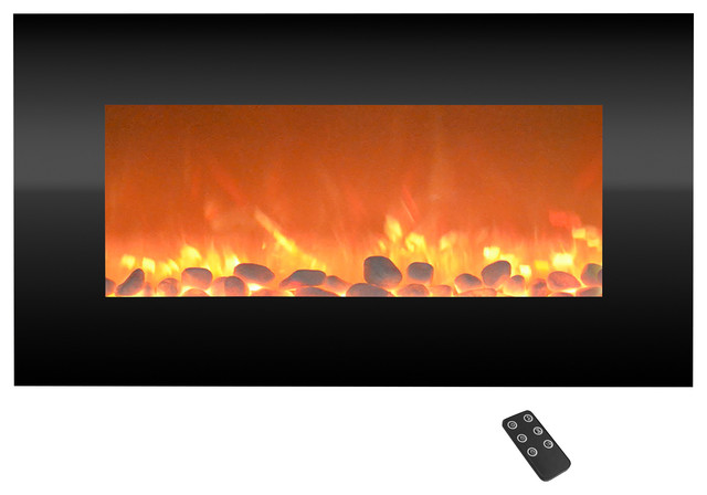 Black Electric Fireplace, 13 Backlight Colors And Remote- 31 By Northwest.