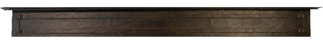 "Iron Mantel In Distressed Black Copper Finish, 48""x6.25""."