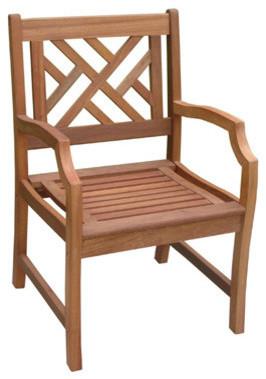Vifah Malibu Outdoor Wood Garden Armchair.