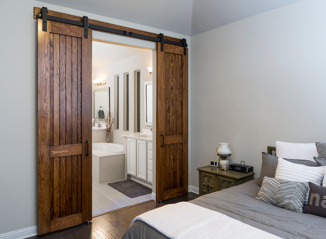 Douglas Fir Bi-Parting Master Bath Doors