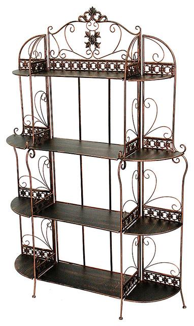 """Oliver 67"""" Standard 4 Shelf Bakers Rack, Blackened Copper - Mediterranean - Baker's Racks - by ..."""