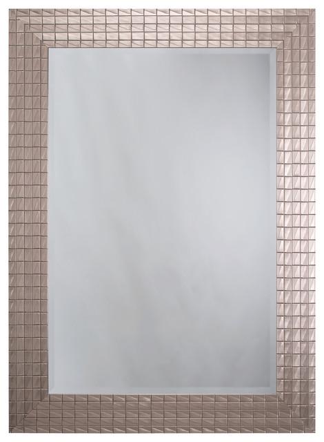Silver Blocks Mirror Frame.