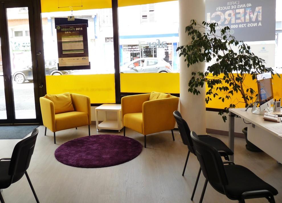 Rénovation de l'agence d'assurances Aviva Grenoble