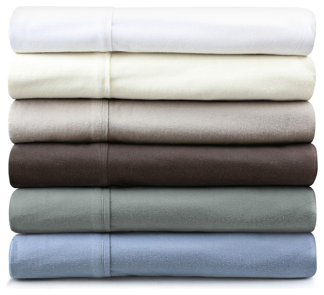 Malouf Velvet Flannel Deep Pocket Bed Sheet Set