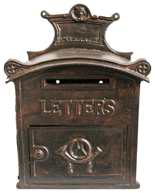 Antique Furniture Supplies Mail: Consigned Antique Iron Mail Box