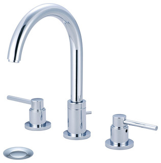 Two Handle Lavatory Widespread Faucet, PVD Stainless Steel