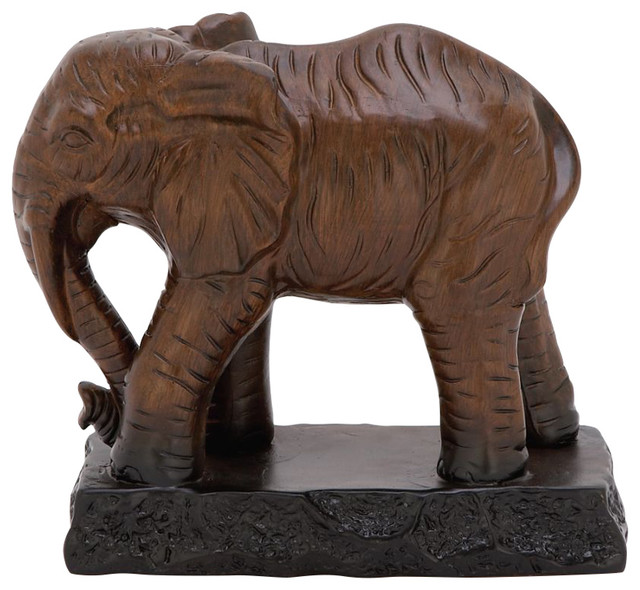 Benzara ceramic elephant statue view in your room houzz for Modern home decor objects