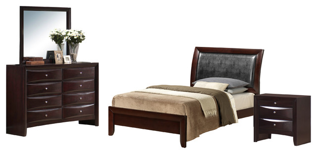 madison 4 piece bed set full transitional bedroom