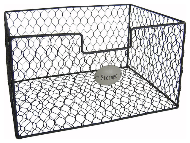Mesh Wire Storage Basket. -1