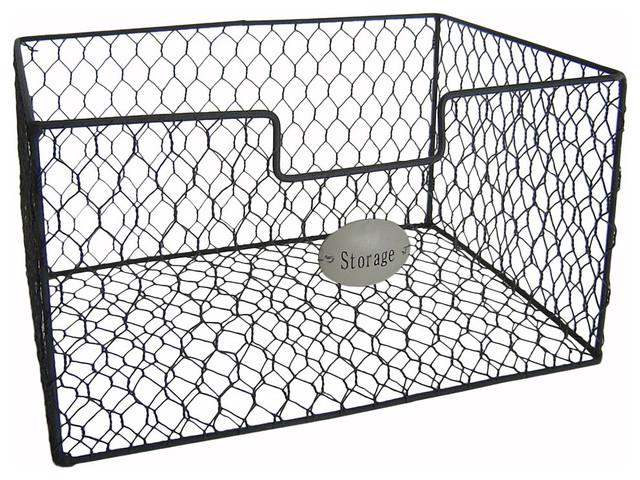 Mesh Wire Storage Basket Industrial Storage Bins And Boxes