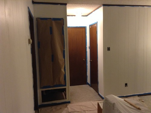 & Should we paint interior doors in newly painted paneled den?