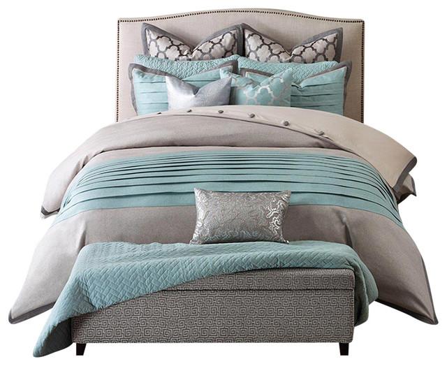 jla jla hampton hill tranquility polyster comforter set, multi