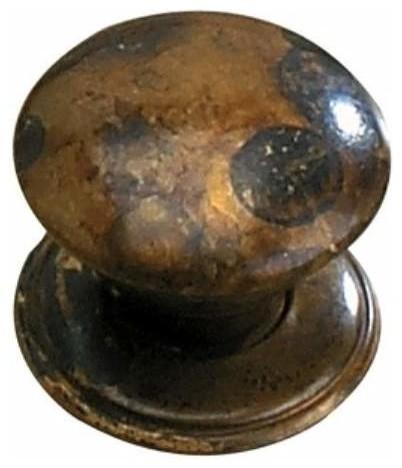 Richelieu Poveral Brass Mushroom Knob 25mm Oxidized Brass ...
