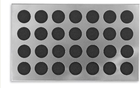 Incroyable Stainless Steel Door Mat With Rubber Circles