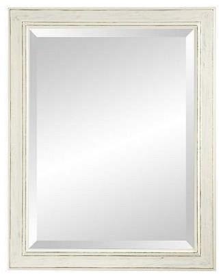 Natalia Wall Mirror, Pearl White, 38 X 48.