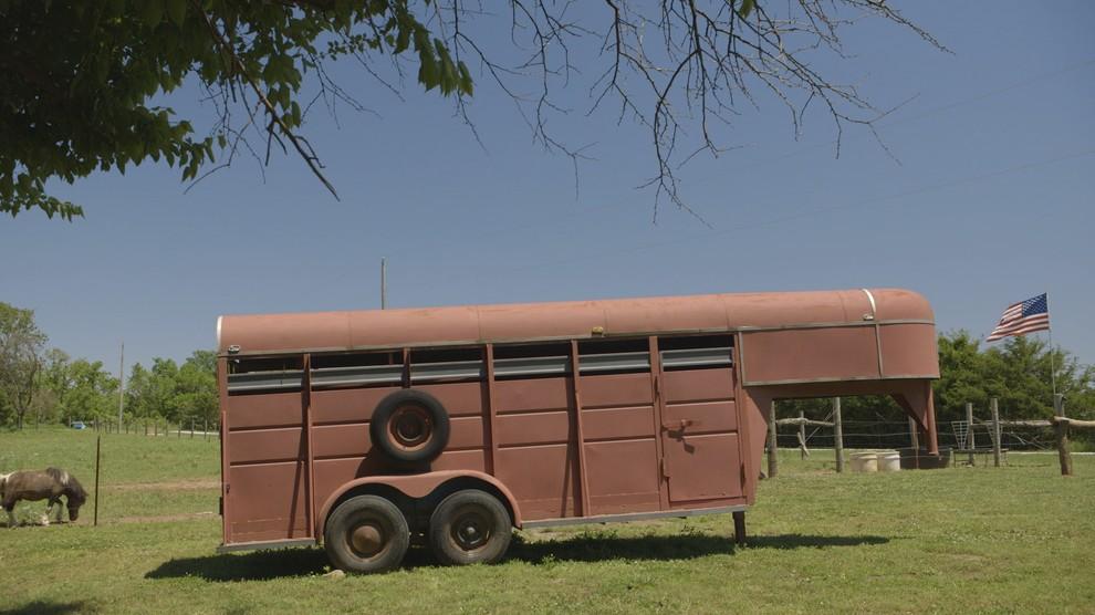 Vintage horse trailer turned tiny house