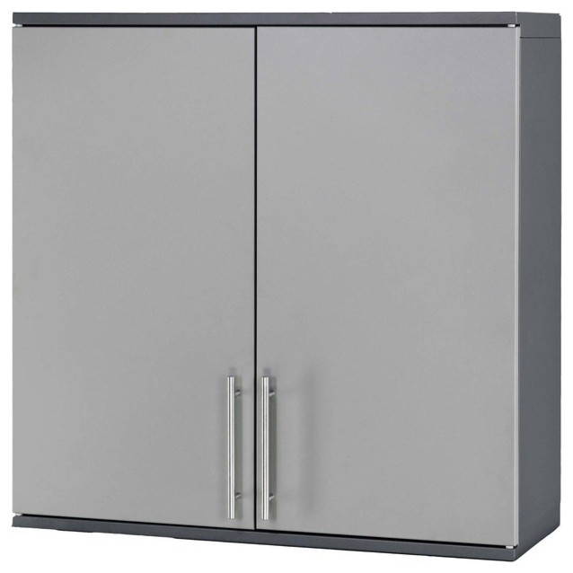 Stack-On 2-Door Wall Cabinet With Full Length Doors.