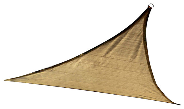 Shelterlogic Outdoor Sun Shade Sail, Triangle, Sand.